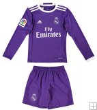 Kit Junior Real Madrid Exterieur 2016/17 ML