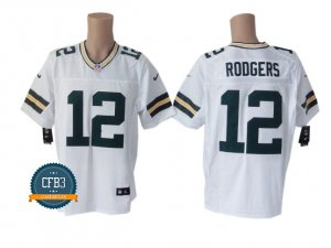 Aaron Rodgers, Green Bay Packers - Blanc