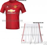 Kit Junior Manchester United Domicile 2016/17