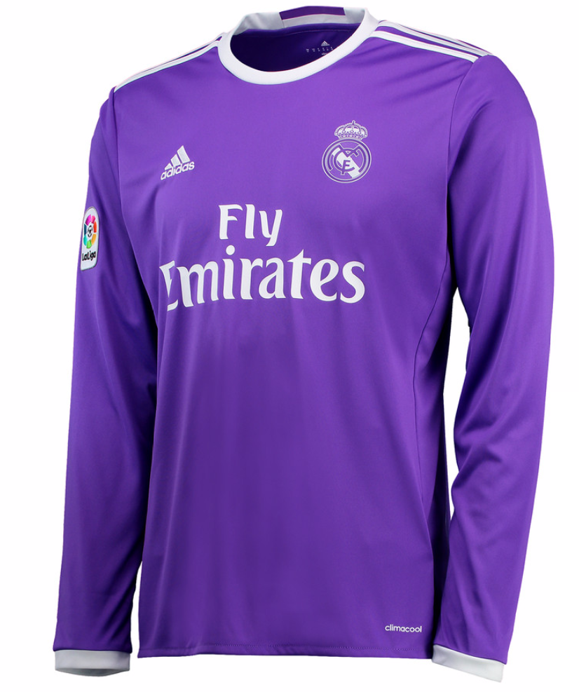 Maillot Real Madrid Exterieur ML 16/17